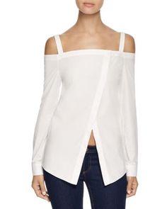 N Nicholas Off Shoulder Wrap Front Shirt | Bloomingdale's