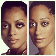 Like Mother, like Daughter. This is almost scary. TWINS! Tracee Ellis Ross and Diana Ross.