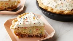 Three favorite desserts, cookie, cake, and pie, all combined in this one stellar treat!