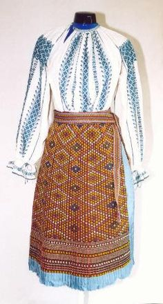 Women's costume from county of Mehedinţi Costumes For Women, Folk Art, Fashion Beauty, High Waisted Skirt, Characters, Popular, Craft, Blouse, Skirts