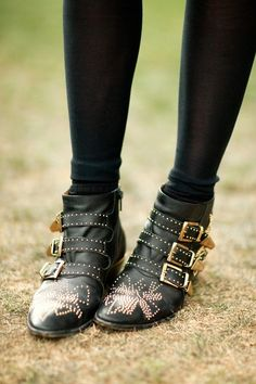 Chloe ankle boots.