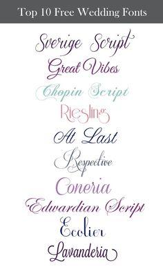 Top 10 Free Wedding Fonts  tjn