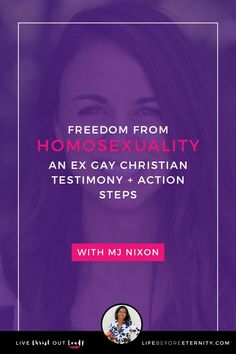 Freedom from Homosexuality: An Ex Gay Christian Testimony + Action Steps | Are you ready to experience freedom from homosexuality? In this video, MJ Nixon of UpRooted Heart, Inc. shares how she was delivered from homosexuality, as well as some biblical and actionable guidance for overcoming same-sex attraction.