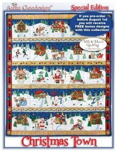 Anita Goodesign Embroidery ~ Christmas Town ~ Mix & Match Quilting ~Special Edition Embroidery Designs