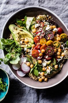 Loaded Greek Quinoa Salad - healthy, easy, satisfying and delicious - salad done…