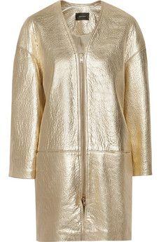 female-leather-coat-metallic-size-petite