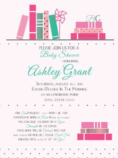 Farewell invitation card buy farewell party invitation cards baby shower book themed invitation boy girl or gender neutral stopboris Images
