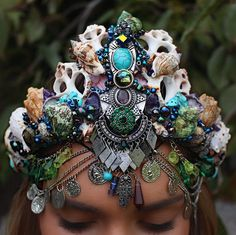 large mystic mermaid crown par chelseasflowercrowns sur Etsy
