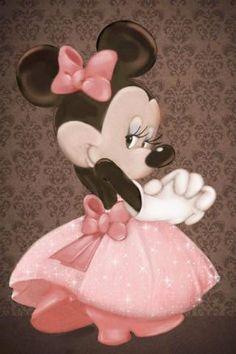 Pink mickey and Minnie Mouse Walt Disney, Disney Magic, Disney Mickey, Disney Art, Mickey Minnie Mouse, Mickey Mouse E Amigos, Mickey Mouse And Friends, Pink Minnie, Retro Disney