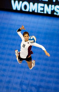 One of the top attackers in NCAA volleyball history, Alix Klineman of Stanford.