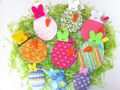 Easter Egg Bunny Pouch by EmbroideryStuff on Etsy, $7.50