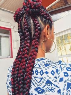 61 Totally Chic And Colorful Box Braids Hairstyles To Wear! African Braids Hairstyles, Braided Hairstyles, Cool Hairstyles, Updos Hairstyle, Hairdos, Hair Updo, Curly Hair Styles, Natural Hair Styles, Beautiful Braids