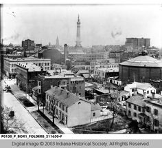 Indianapolis Then and Now: SE Corner of Ohio Street and Capitol Avenue in 1890