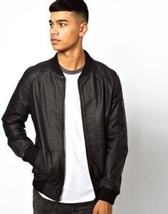 Bellfield Leather Bomber Jacket