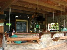 Utopia Eco Hotel (Lanquin, Guatemala). THE most amazing place to stay on your visit to Semuc Champey. You can stay in a choice of cabins, two person nooks or dorm rooms/ hammocks. The vegetarian food is delicious and the family style evening meal is a great way to relax after a day of exploring. Love the swing seats at the bar and the huge selection of books and DVDs. Lovely staff and even better surrounds. You have to do the Chocolate making course and tube back from Semuc Champey!