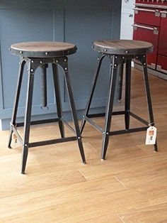Cafe Style adjustable Stool urban vintage industrial rustic - Pewter | Bar stools | Pinterest | Adjustable stool Cafe style and Vintage industrial : metal cafe stools - islam-shia.org