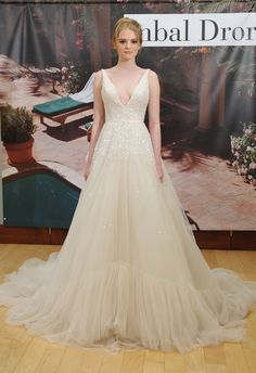 Sequin V-Neck Ball Gown | Inbal Dror Fall 2014 | MCV Photo | The Knot Blog