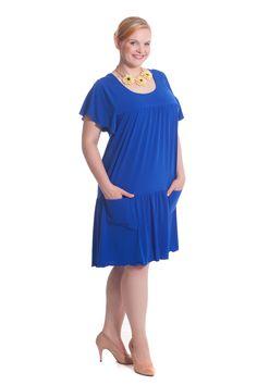 Big Size Sommerkleid von Design for you. www.at/shop Big Size Fashion, Short Sleeve Dresses, Dresses With Sleeves, Trends, Pop Up Stores, Outfit, Cold Shoulder Dress, Dresses For Work, Austria
