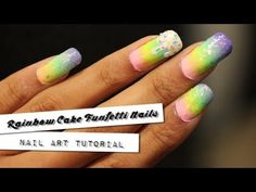 http://www.NAILgasmTV.com  - Learn how to do these fun rainbow gradient nails with sprinkles in this quick and tutorial.  Colors used: Floss Gloss: Perf, Con Limon, Wavepool, Glowstar Julep: Robin, Leah, Blake Diosa: Yum Yum Bubblegum Color Club: Pucci-Licious China Glaze: Luxe and lush, Fairy Dust   Watch NAILgasm in its entirety at http://www....