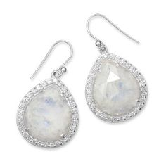 Rainbow Moonstone Gemstone Drop BRIDAL Dangle by ForsgateJewelry