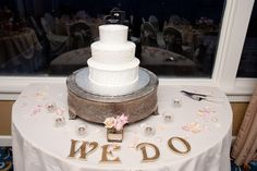 Our wedding cake table