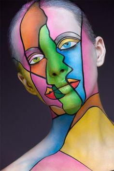 Increíbles maquillajes en rostros hechos por Alexander Khokhlov