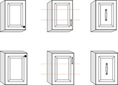 Hardware Placement For Upper Or Lower Cabinet Doors.