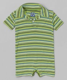 Island Stripe Polo Romper - Infant #zulily #zulilyfinds