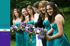 Bridesmaids colors and flowers