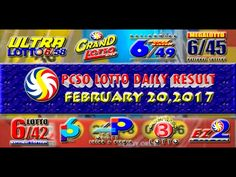 PCSO LOTTO RESULTS FEBRUARY 20, 2017 (EZ2, SWERTRES, 4D, 6/45 & 6/55) Lotto Results, Positive Affirmations, Pop Tarts, Work On Yourself, Snack Recipes, Youtube, February 8, Snack Mix Recipes, Appetizer Recipes