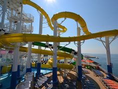 Another view of the Carnival Sunshine's water slide area.