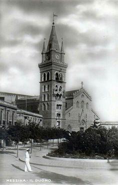 Il Duomo di Messina in una cartolina degli anni '50