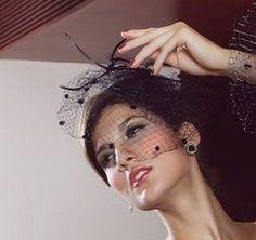 bibi noir chapeau voilette coiffe cabaret soire bijou cheveux danse 70316 1 - Bibi Mariage Voilette
