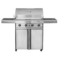 Barbeques Galore 2017 Turbo Elite 4-Burner Freestanding Gas Grill (Natural Gas), Silver (Stainless Steel)