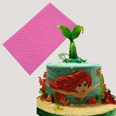 Mermaid Fish Scale Lace Mat Fondant Cake Border Decorating Texture Cake Silicone Molds Baking Tools Gumpaste Chocolate Molds
