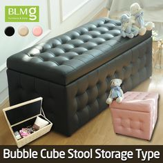[S$69.00][Chinese New Year/CNY][Storage Type]Single/Double Bubble Cube Stool★Storage Box★Ottoman★Furniture★Local Seller★Local Delivery★Storage box