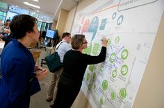 Large-scale interactive visual for the Central Corridor Funder's Collaborative