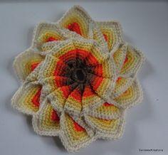 Crochet Potholder, Hotpad, Crochet Trivet, Star Potholder, Kitchen Decor by SandeesKreations on Etsy