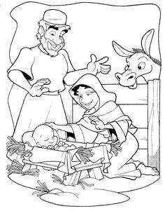 Menta Más Chocolate - RECURSOS PARA EDUCACIÓN INFANTIL: Dibujos para colorear de Pesebres