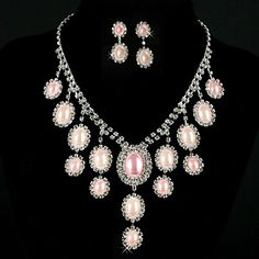 Gorgeous Alloy With Imitation Pearl Womens Jewelry Set Including Necklace, Earrings