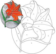 Free Lily Pattern SGN #53 - Free Glass Patterns from Stained Glass News Lilies are a sign of spring or a symbol of Christmas. Enjoy this free pattern