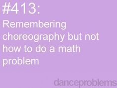 Can't math, can dance