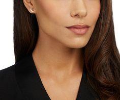 LOVE. Swan Mini Pierced Earrings from #Swarovski