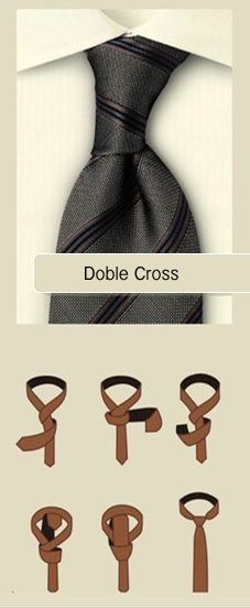 Nudo de corbata doble cross