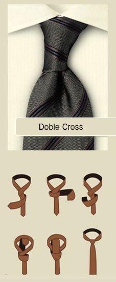 Nudo de corbata doble cross