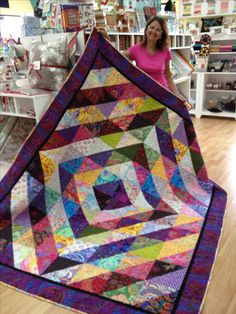 "Perfect use of values versus color.....Value does all the work! Yvonne's gorgeous ""Tower Bridge"" quilt double the size!"