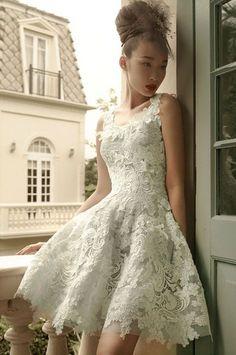 61 Fabulous Short Wedding Dresses For Every Style | HappyWedd.com
