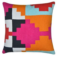 Karpas Pillow 18x18 Multi, $49, now featured on Fab.