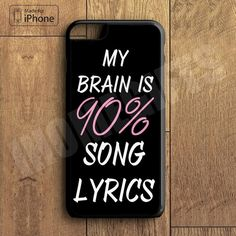 iPhone 7 7 Plus Cool Brain Song Music Cute Funny Quote Phone Case For... ❤ liked on Polyvore featuring accessories and tech accessories
