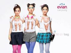 Evian Live Young is Back with a new campaign Creative Poster Design, Ads Creative, Creative Posters, Print Advertising, Advertising Campaign, Great Ads, Photoshop, Altering Clothes, Cute Pins